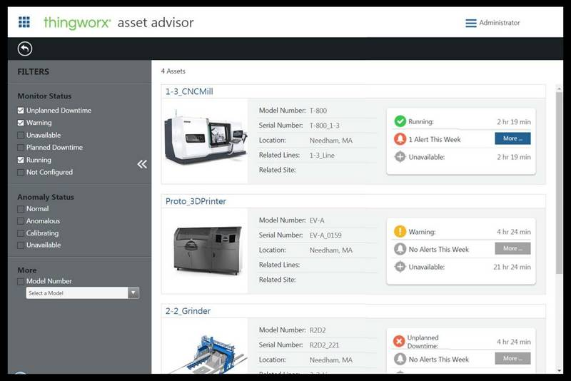 Thingworx plateforme management process, plateforme IIoT