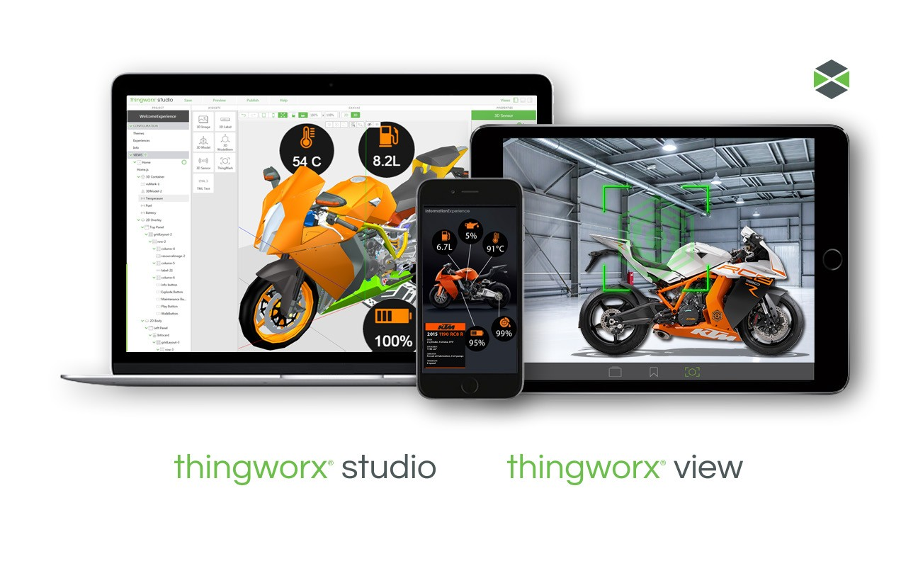 ThingWorx Studio, plateforme iot industrielle
